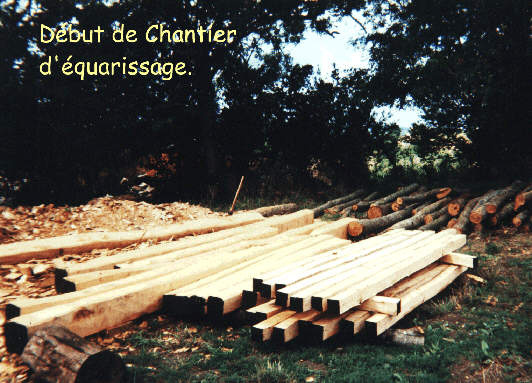 Chantier d'équarissage